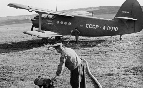 самолет Ан-2 во время